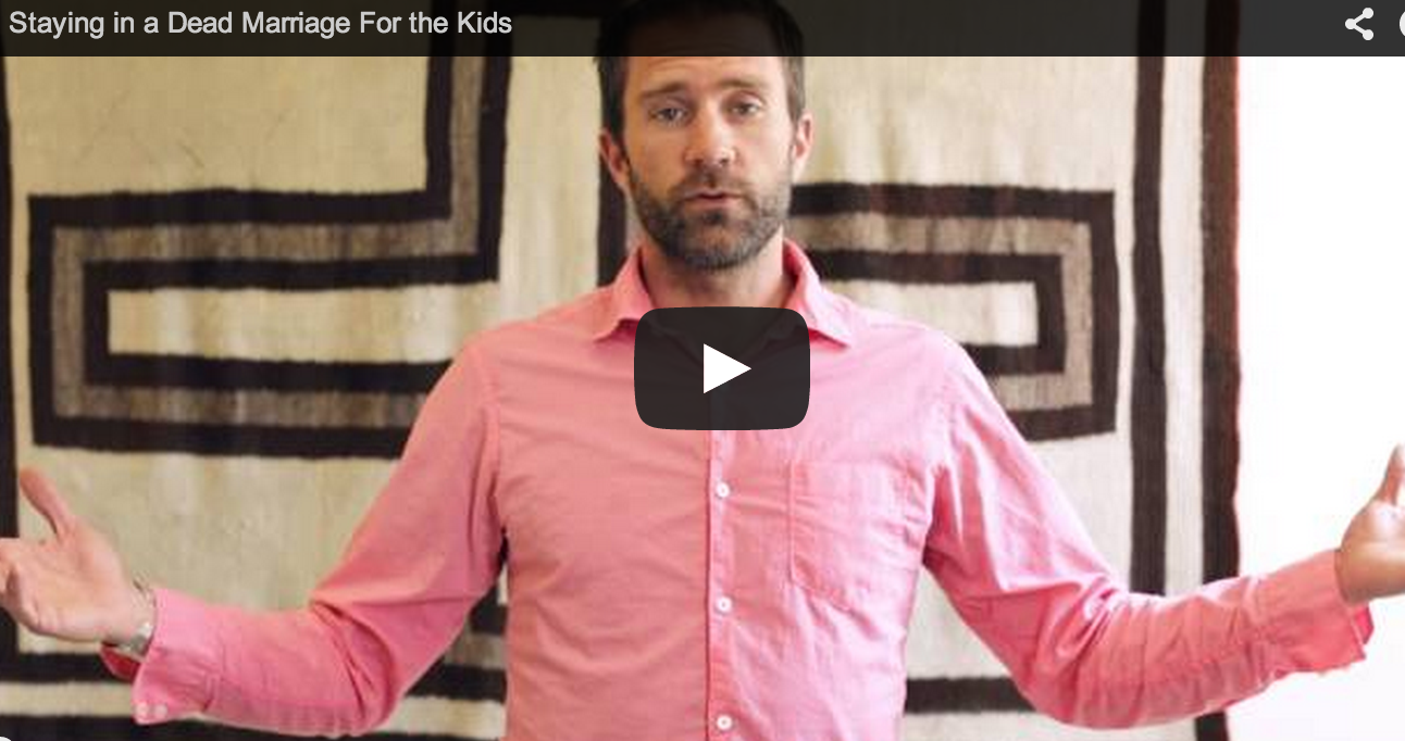 Staying Married For The Kids [video]